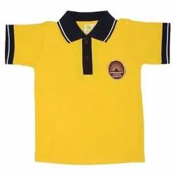 Half Sleeves Yellow School T Shirt
