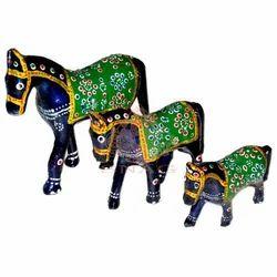 Meena Horse Sculpture