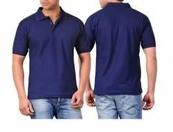 Half Sleeves Blue Promotional Polo T-Shirt