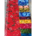 Pure Cotton Ladies Tie Dye Batik Nighty Fabric, Multiple Colours