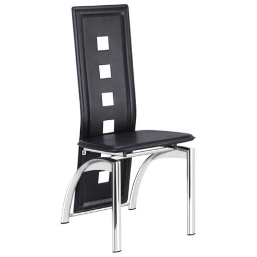 Black Long Back Cafeteria Chair