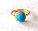 Semi Precious Stone Dyed Ruby Ring