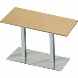 Stainless Steel(Stand) Rectangle Cafe Table