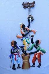 Handicraft Inces Krishna Metal Statue Wall Decor