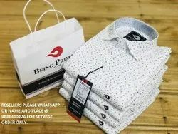 Casual Wear Cotton Mens Printed Branded Shirts, Size: M L Xl Xxl,38