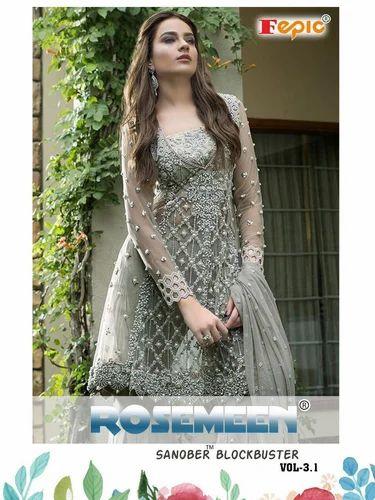 c6f1e58987 FEPIC Sanober Blockbuster Semi-Stitched Pakistani Salwar Suit, Rs ...