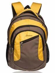 Brown & Yellow Moon Laptop Backpack Bag