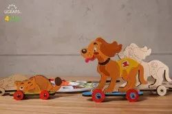 Kitty and Puppy 3D Wooden Coloring and Painting DIY Model