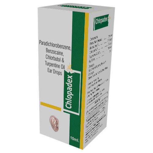 Benzocaine, Chlorbutol And Turpentine Oil Ear Drops