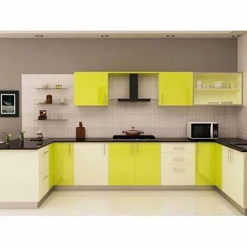 U Shaped Acrylic Modular Kitchen at Rs 4000/running feet ...