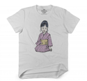 White And Black Women Asian Doll Casual T-shirt