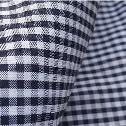 Organic Cotton Gingham Checks Fabric, For Textile Induatry, GSM: 50-150 GSM
