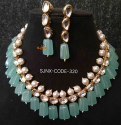 Engagement Copper Designer Kundan Beads Jewellery