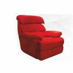 Red Home Theater Recliner Chair