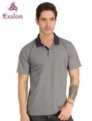 Exalon Grey Solid Men''s T-Shirt
