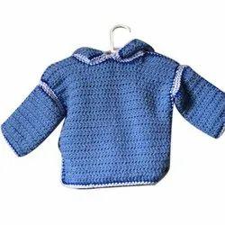 Crochet Full Sleeve Baby Sky Blue Sweater