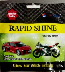 CarSaaz Rapid Shine Polish in Sponge (25Pcs X 1Box), For Automobiles