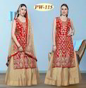 Designer Embroidered Kurti with Lehenga for Festival