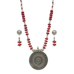 Stone Beaded Oxide Necklaces