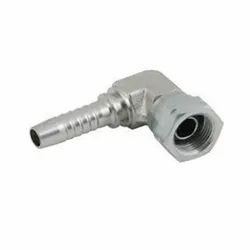 Male Stainless Steel 90 Degree Elbow Insert Hydraulic Hose Connector, Size: 1/2 inch