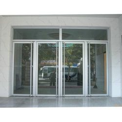 Saint Gobain Hinged Aluminium Thick Glass Door, For Office, Home & Hotel, Thickness: 5 Mm