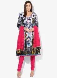 Cotton Multicoloured Printed Suit