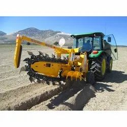 Chain Attached Trench Digger Machine