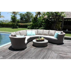 Cane Wicker Outdoor Sofa