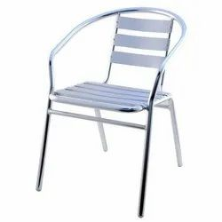 Silver Stainless Steel Chairs, For Restaurant, Size: Standard