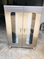 Mild Steel Medical Cabinet., For Medicine, Size: 35 X 15 Inch (l X W)