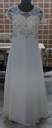 Christian Wedding Gown With Tail Pattern