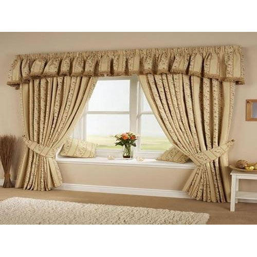 Sitting Room Curtains: Golden Plain Living Room Cotton Curtains, Rs 300 /piece