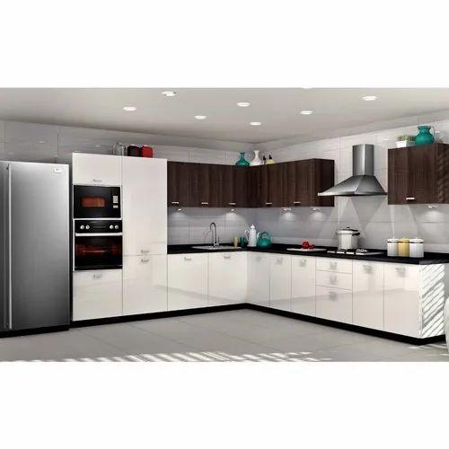 Sleek World MDF Modular Kitchen