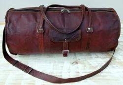 Vintage Leather Large Capacity Duffel Bag