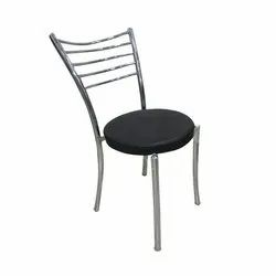 Black Polished Steel Chair