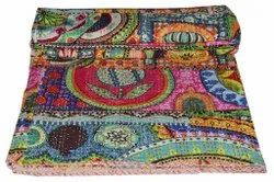 Cotton Clothing Indian Cotton Kantha Quilt Handmade Kantha Quilt