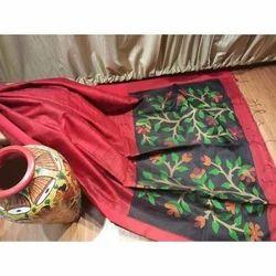 PC Printed Jamdani Matka Pure Silk Saree, 6.3 m (with blouse piece)