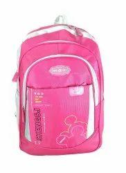 Plastic Zip Pink School Bag