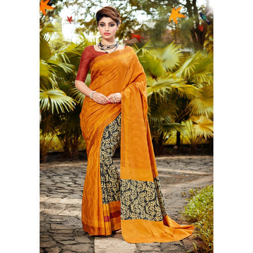 138db9e172 Printed Bhagalpuri Silk Casual Wear Saree, भागलपुरी ...