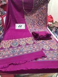 Unstitched Unstitch Pashmina Suit, Handwash