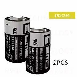 EEMB ER14250 3.6V 1/2AA 1200mAh PLC Battery