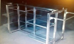 SS Glass Display Rack