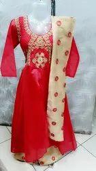 Plazo Modal Ladies Embroidered Suit Salwar