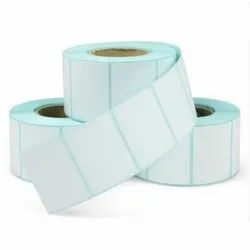 White Paper 100 MM X 75 MM Self Adhesive Label, Packaging Type: Box