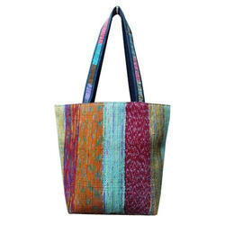 Indian Handmade Chindi Dari Cotton Rug Bags