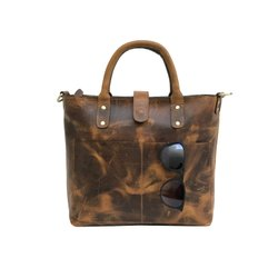 Beautifully Designed Genuine Milled Leather Womens Shoulder Tote Bag For Daily Use
