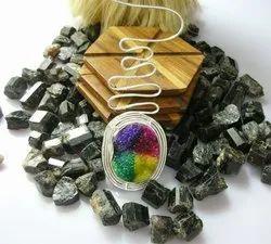 Multi Druzy Gemstone Silver Plated Statement Design Women Necklace