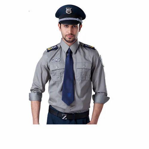 4db4b551 Grey And Black Cotton Modern Security Guard Uniform, Rs 575 /set ...