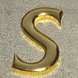 Brass Gold Mirror 3D Letters