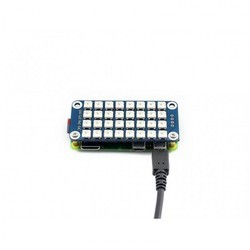 True Color RGB LED HAT For Raspberry Pi  Colorful Display, 4x8 Grid